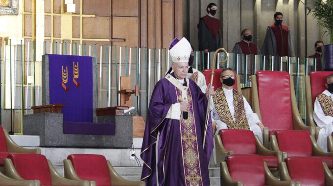 El Arzobispo Carlos Aguiar Preside La Misa Del Tercer Domingo De Cuaresma. Foto: Basílica De Guadalupe/Cortesía.