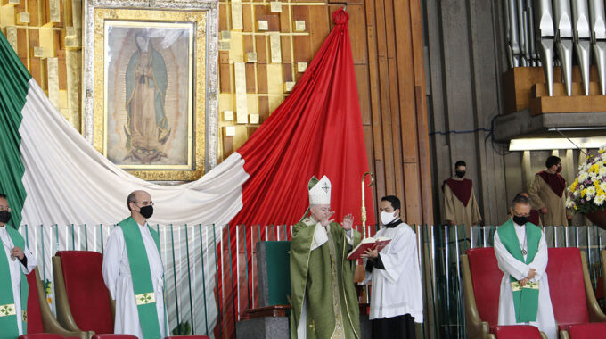 El Cardenal Carlos Aguiar Preside La Misa En La Basílica De Guadalupe. Foto: INBG/Cortesía.