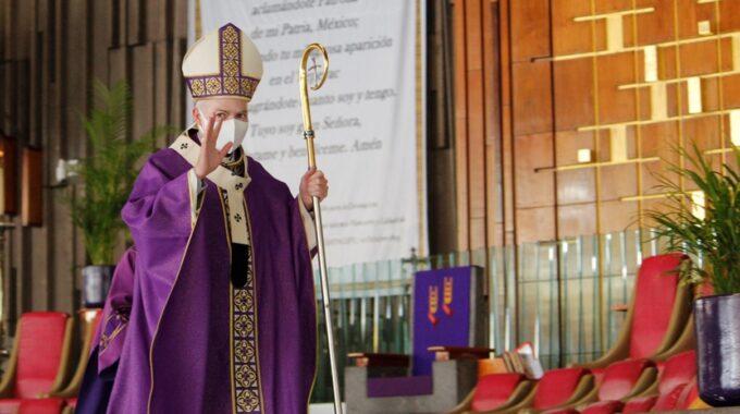 El Arzobispo Carlos Aguiar Retes En El Primer Domingo De Cuaresma 2021. Foto: Basílica De Guadalupe/Cortesía.