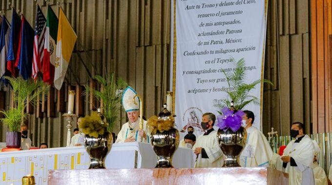 Misa Crismal En La Basílica De Guadalupe. Foto: INBG/Cortesía