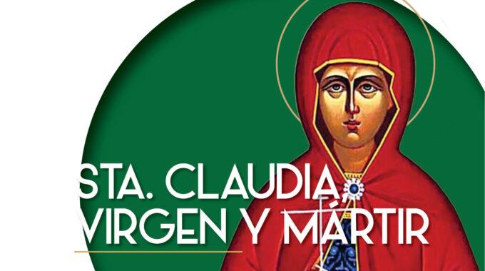 Sta Claudia Virgen Y Mártir