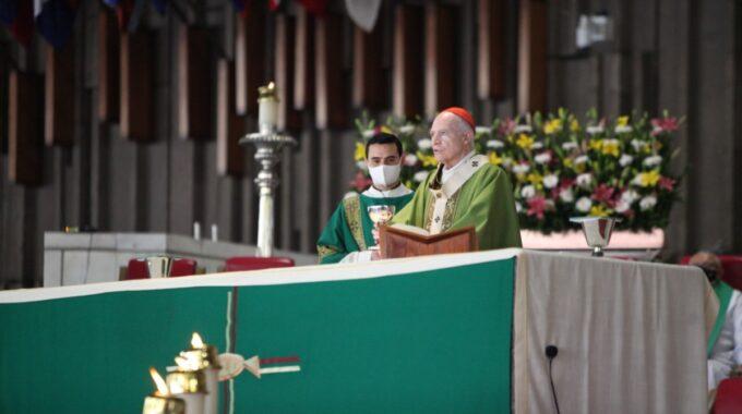 Card. Carlos Aguiar Retes. Arzobispo Primado De México. Foto: Basílica De Guadalupe.